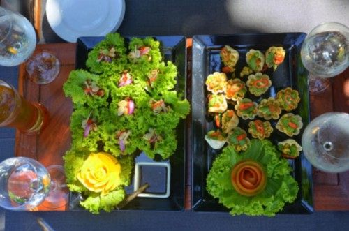 The Amanpuri - exquisite canapes