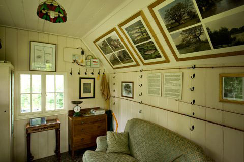 The interior of oakley fishing hut