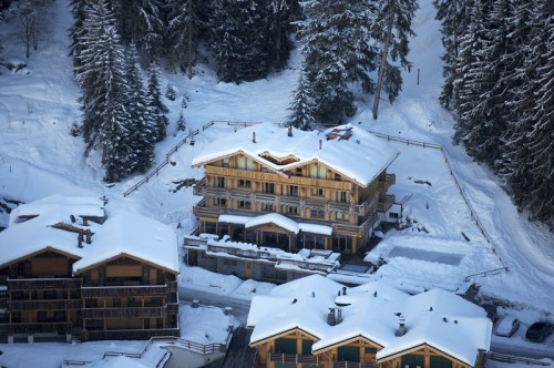 The Lodge Aerial View Verbier