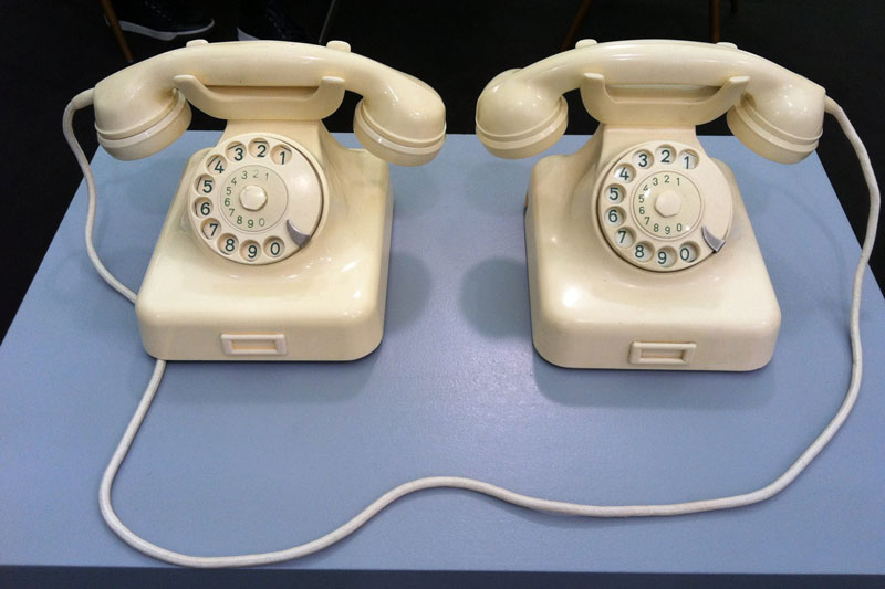 Two Telephones by Peter Feldmann