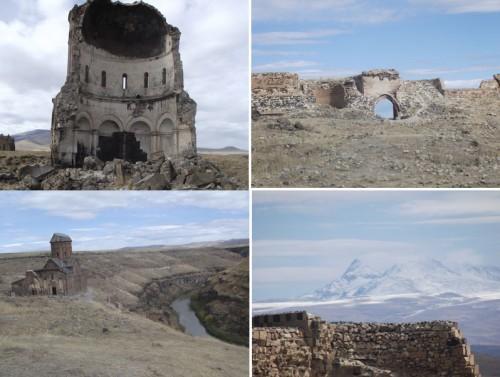 wall ruins at Ani old capital of Armenia