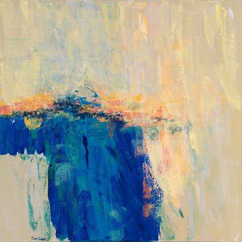 Water Study by Susan Swartz - acrylic on linen