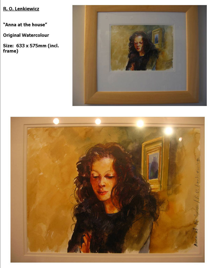 Robert Oscar Lenkiewicz watercolour