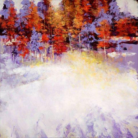 Winters Festival by Susan Swartz - acrylic on linen